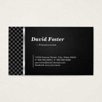 Programmer Professional Black White Business Card