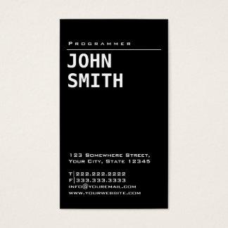 Programmer Simple Framed Plain Minimalist Business Card