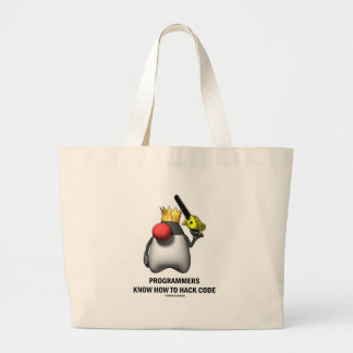 Programmers Know How To Hack Code (Open Source) Jumbo Tote Bag