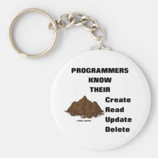 Programmers Know Their CRUD Keychain