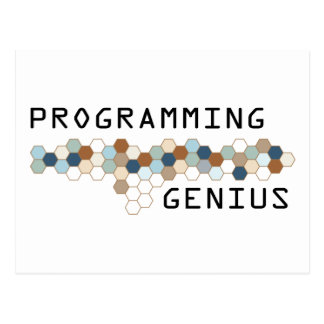 Programming Genius Postcard