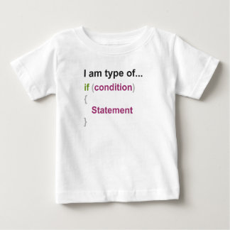 programming if else style one baby T-Shirt