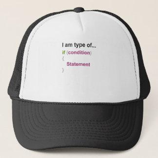 programming if else style one trucker hat