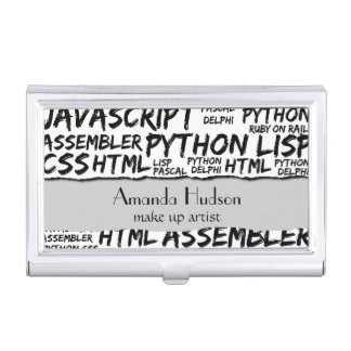 Programming Languages (Java, Pascal) - Black Business Card Cases