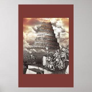 Programming Languages Tower of Babel Poster