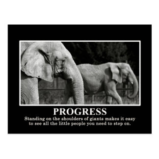 Progress by Standing on the Shoulders of Giants Postcard