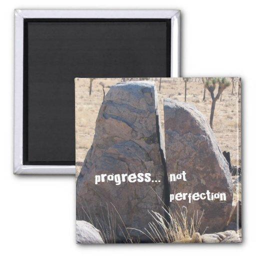 Progress not perfection refrigerator magnet