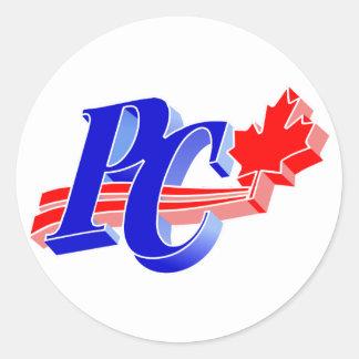 Progressive Conservative Old Party Logo Round Sticker