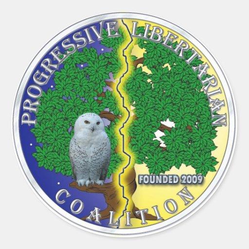Progressive Libertarian Coalition Sticker
