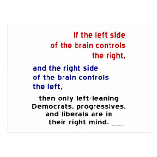 Progressives in Right Mind Postcard