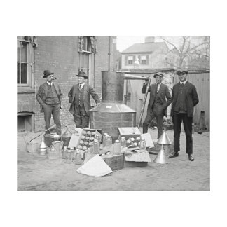 Prohibition Agents with Moonshine Still, 1922 Canvas Print