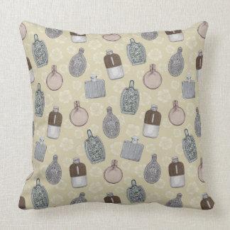 Prohibition Hip Flasks Pattern Throw Pillow