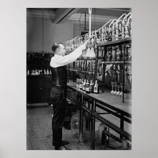 PROHIBITION LIQUOR TEST LAB 1920 PRINT
