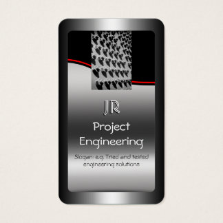 Project Engineer, Nuts And Bolts, red swoosh Business Card