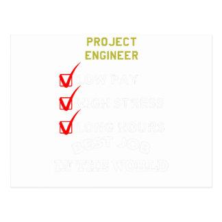 project engineer postcard