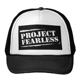 Project Fearless BLACK Trucker Cap