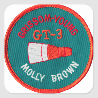 Project Gemini:  GT 3: Grissom / Young Square Sticker