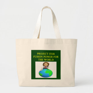 project iter nuclear fusion reactor tote bags