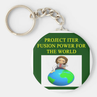 project iter nuclear fusion reactor basic round button key ring