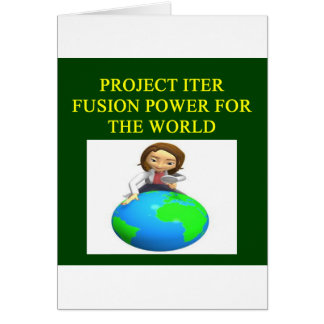 project iter nuclear fusion reactor greeting card