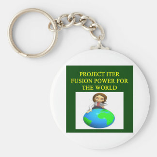 project iter nuclear fusion reactor key chain