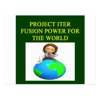 project iter nuclear fusion reactor postcard