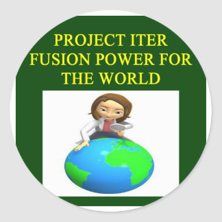 project iter nuclear fusion reactor round sticker