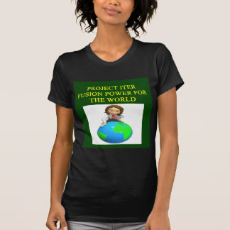 project iter nuclear fusion reactor tshirts