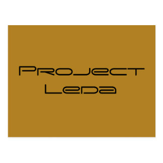 Project Leda from Orphan Black,geometric font Postcard