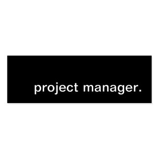 project manager. business card