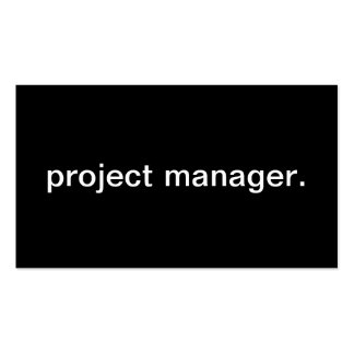 Project Manager Business Cards