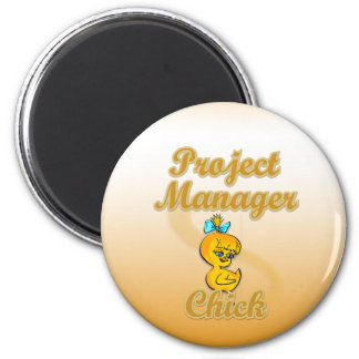 Project Manager Chick 6 Cm Round Magnet