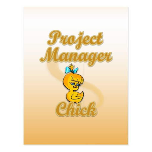 Project Manager Chick Postcards