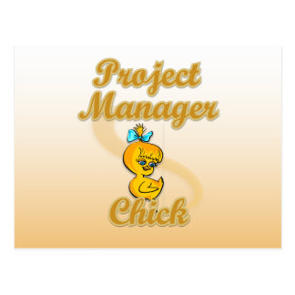 Project Manager Chick Postcard