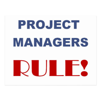 Project Manager Rule Postcard