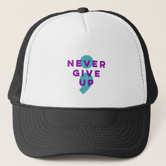 Project Semicolon Never Give Up Suicide Prevention Trucker Hat