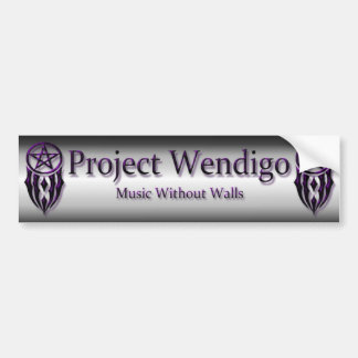 project wendigo bumper sticker