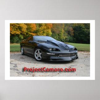 ProjectCamaro.com's Black Camaro Poster