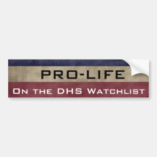 ProLife and On the List Bumper Sticker