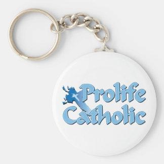 Prolife Catholic Cross Keychain