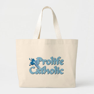 Prolife Catholic Cross Jumbo Tote Bag