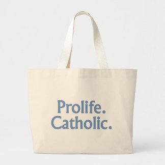 Prolife. Catholic. Bag