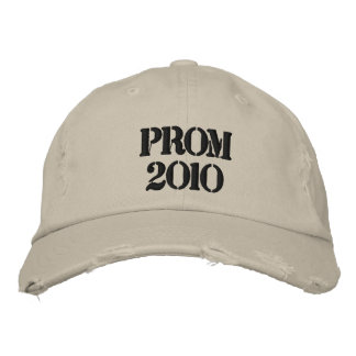 PROM 2010 distressed cap Embroidered Hat