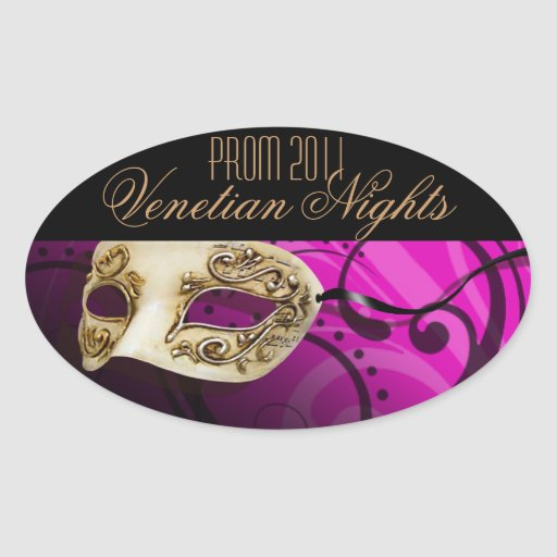 Prom 2011 Venetian Nights Masquerade Party Oval Stickers