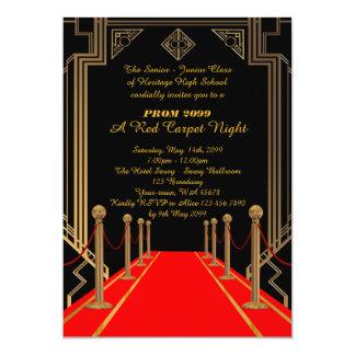 Prom Senior-Junior, Gatsby style, Red Carpet Night Card
