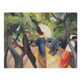 Promenade by August Macke Postcard