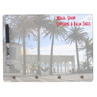 Promenade In Old Town Nerja, Spain Dry Erase Board With Key Ring Holder