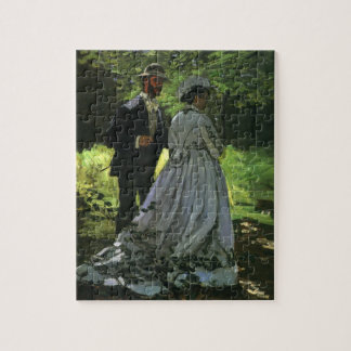 Promenaders by Claude Monet, Vintage Impressionism Jigsaw Puzzle