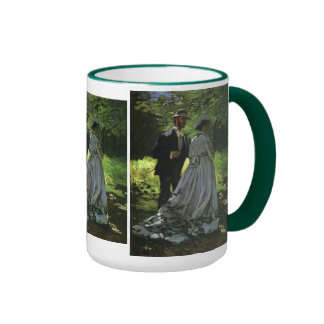 Promenaders by Monet, Vintage Impressionism Art Coffee Mug