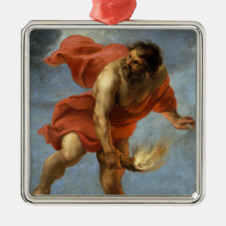 Prometheus Carrying Fire Metal Ornament